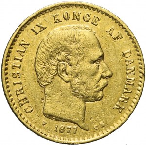 Dania, 10 koron 1877, Christian IX