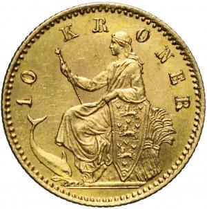 Dania, 10 koron 1890, Christian IX