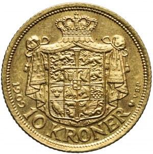 Dania, 10 Koron 1908, Fryderyk VIII, mennicze