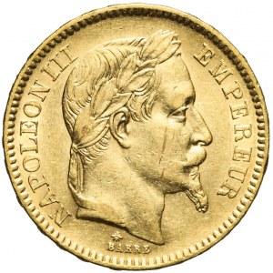 Francja, Napoleon III, 20 franków 1864