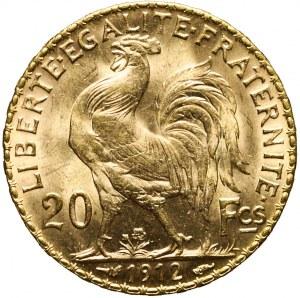 Francja, Republika, 20 franków 1912, piękne
