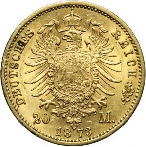 Niemcy, Saksonia, 20 marek 1873 E, Jan V, Muldenhütten