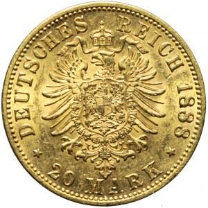 Niemcy, Prusy, 20 marek 1888 A, Fryderyk III, Berlin