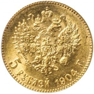 Rosja, Mikołaj II, 5 rubli 1904, mennicze