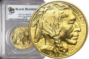 Stany Zjednoczone Ameryki (USA), 50 dolarów 2011, Bizon, piękne