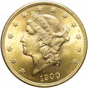 Stany Zjednoczone Ameryki (USA), 20 dolarów 1900, Liberty Head, Filadelfia, mennicze