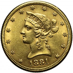 Stany Zjednoczone Ameryki (USA), 10 dolarów 1881, Liberty Head, Filadelfia