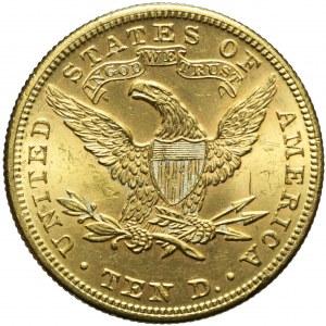 Stany Zjednoczone Ameryki (USA,) 10 dolarów 1899, Liberty Head, Filadelfia, mennicze