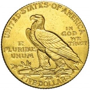 Stany Zjednoczone Ameryki (USA), 5 dolarów, Indianin, 1911, Filadelfia