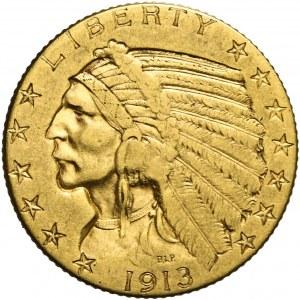 Stany Zjednoczone Ameryki (USA), 5 dolarów, Indianin, 1913, Filadelfia