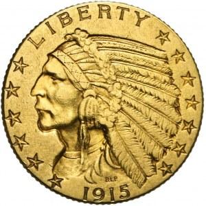 Stany Zjednoczone Ameryki (USA), 5 dolarów, Indianin, 1915, Filadelfia
