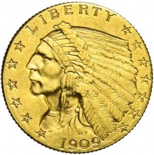 Stany Zjednoczone Ameryki (USA), 2 1/2 dolara, Indianin, 1909, Filadelfia