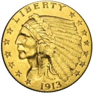 Stany Zjednoczone Ameryki (USA), 2 1/2 dolara, Indianin, 1913, Filadelfia