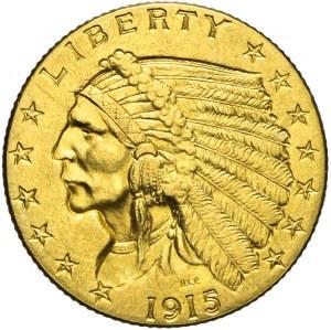 Stany Zjednoczone Ameryki (USA), 2 1/2 dolara, Indianin, 1915, Filadelfia