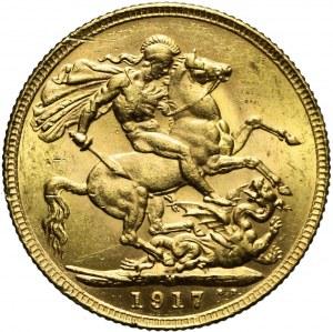 Australia, Jerzy V, Suweren 1917, Melbourne
