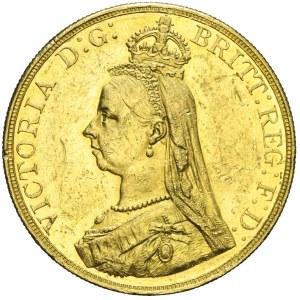 Wielka Brytania, 5 funtów 1887, Wiktoria