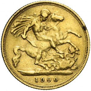 Wielka Brytania, Victoria, 1/2 suwerena 1900, Londyn