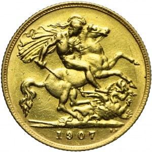 Wielka Brytania, Edward VII, 1/2 suwerena 1907, Londyn