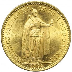 Węgry, Franciszek Józef, 20 koron 1894, Kremnica, piękne