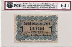 Poznań, 1 rubel 1916, krótka klauzula, nabywa