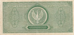 1.000.000 marek polskich 1923 - seria D, nr. siedmiocyfrowy