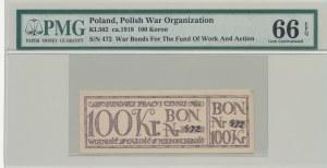 RRR-, 100 koron 1918, Bon na cele patriotyczne, Całość - Niepodległość