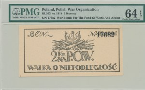 2 korony 1918, Bon na cele patriotyczne, Polska Organizacja Wojskowa