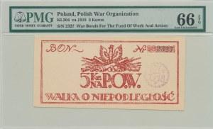 5 koron 1918, Bon na cele patriotyczne, Polska Organizacja Wojskowa