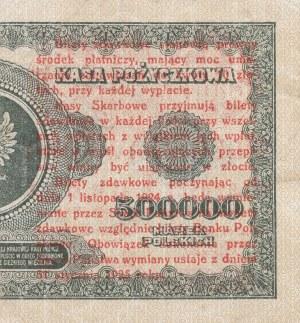 1 grosz 1924 - ser. A0 - lewa połowa, ciemnozielony numerator