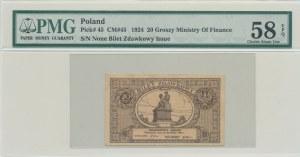 20 groszy 1924, bilet zdawkowy