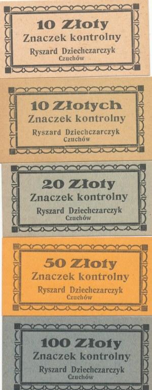 RRR-, 10, 20, 50, 100 Złoty Czuchów, NIENOTOWANE