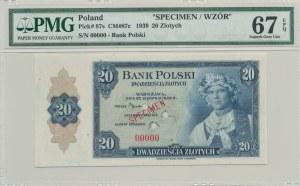 20 złotych 1939, Emigracja, USA, SPECIMEN 00000