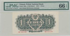 1 złoty 1944 ...owym, ser. XE