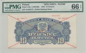 10 złotych 1944 ...owe ser. Ac, WZÓR