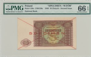 10 złotych 1946, SPECIMEN