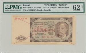 10 złotych 1948, SPECIMEN, AD1234567