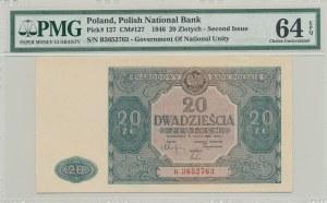 20 złotych 1946, ser. B, mała litera