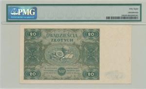 20 złotych 1947, ser. D, duża litera