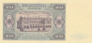 20 złotych 1948 - seria HU