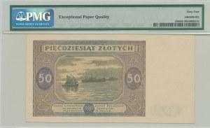 50 złotych 1946, ser. L, duża litera