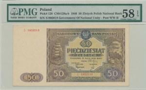 50 złotych 1946, ser. S, duża litera