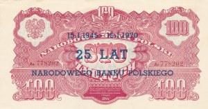100 złotych 1944, ...owe - ser. Ax, nadruki okolicznościowe SPECIMEN i 25 lat NBP