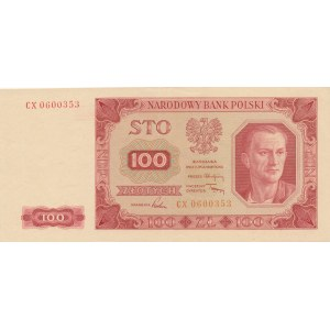 100 złotych 1948 - seria CX