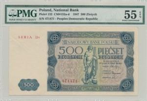 500 złotych 1947, SERIA D3 - najrzadsza