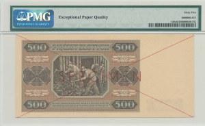 500 złotych 1948, ser. AA, SPECIMEN