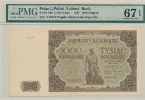 1.000 złotych 1947, ser. I, rzadka seria
