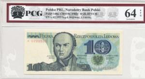 10 złotych 1982, J. Bem - seria A 0223553, pierwsza seria