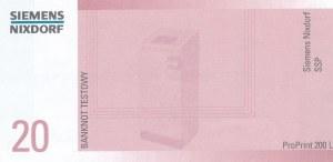 20 zł 1994 banknot TESTOWY SIEMENS, b. rzadki