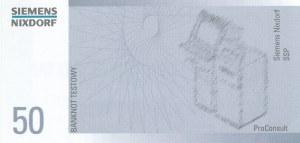 50 zł 1994 banknot TESTOWY SIEMENS, b. rzadki