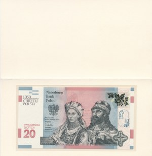 20 złotych 2015, 1050 Rocznica Chrztu Polski, AB0002747, niski numer